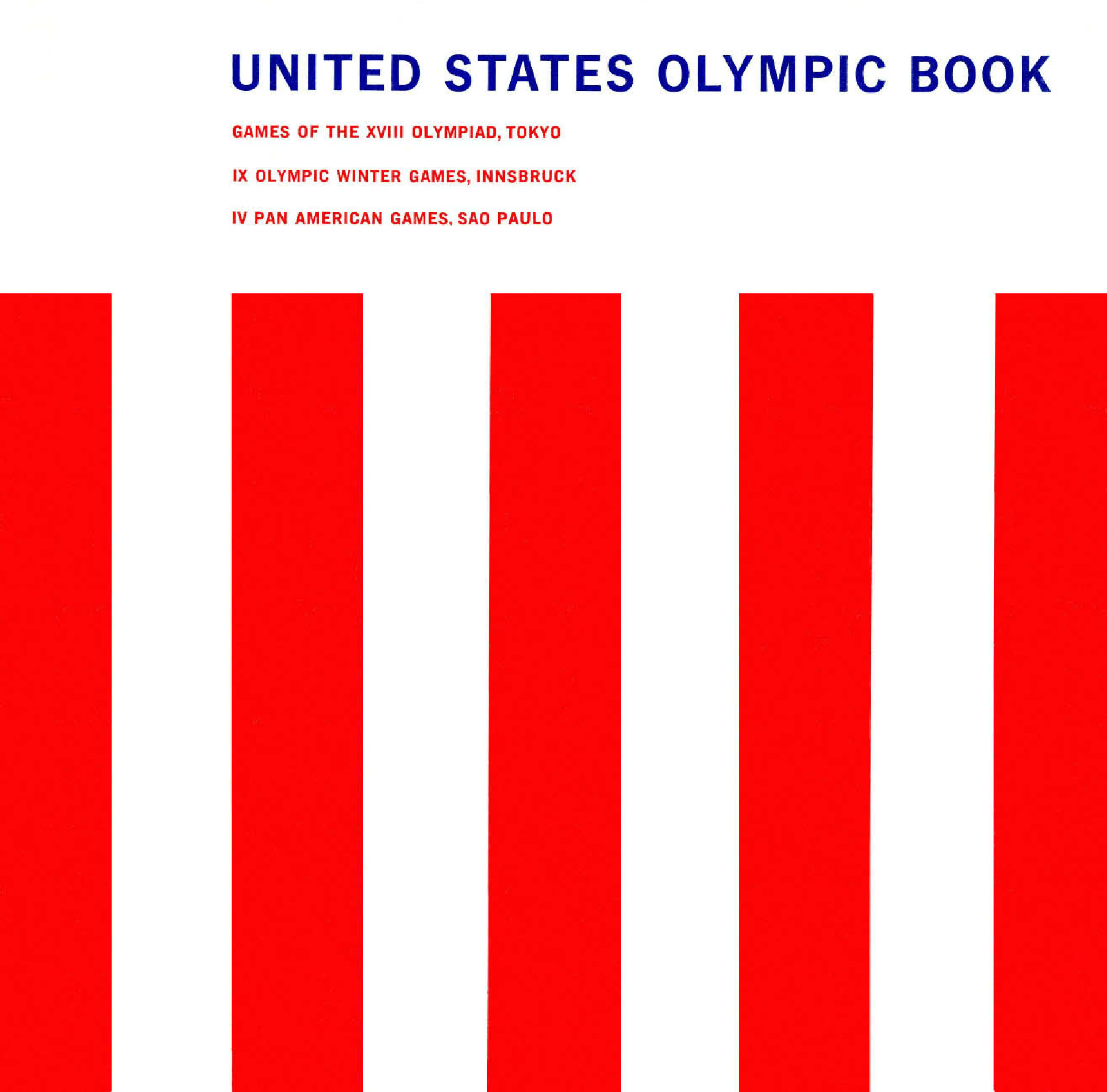 Page 1 United States Olympic Committee Reports Collection La84